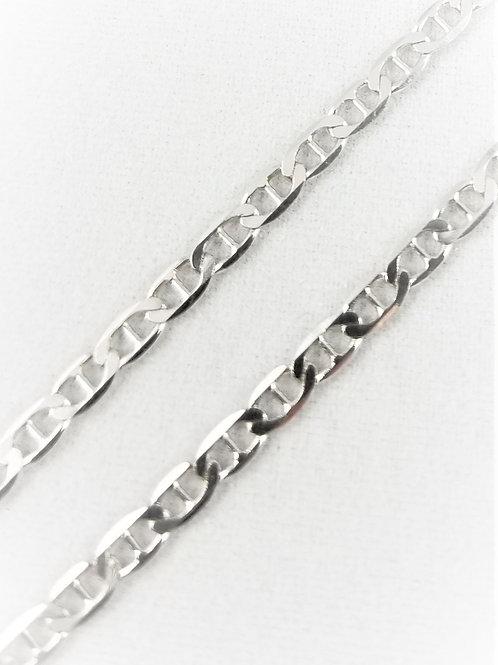 Sterling Silver Flat Mariner Anklet