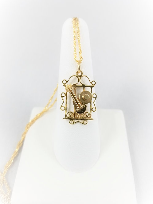18k Hand Crafted Pendant / Charm