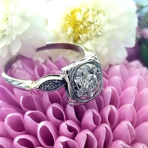 14k Art Deco Diamond Ring
