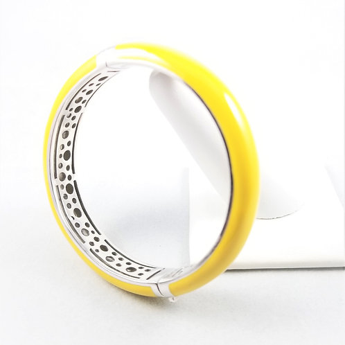 Belle Etoile Sterling Yellow Enamel Bangle