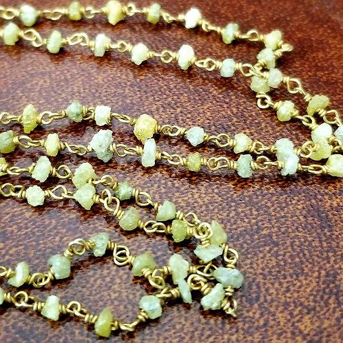 "1930's Rough Diamond 24"" Necklace"