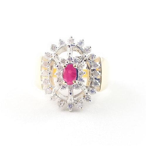 14k Ruby & Diamond Fashion Ring