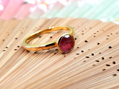 18k Vermeil Pink Tourmaline Stack Ring