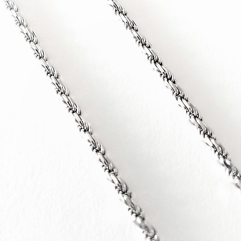 14k White Gold 2mm Italian Rope Chain by Aurafin