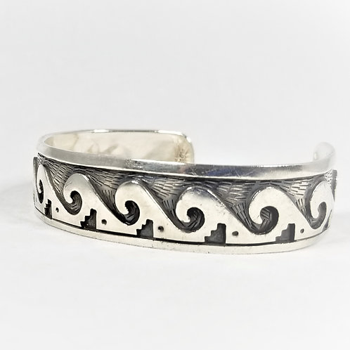 Hand Crafted Vintage Sterling Cuff