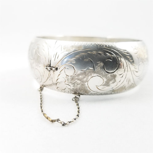 Antique Sterling Silver Hinged Bracelet
