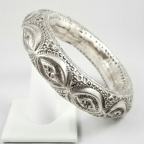 RARE 1920's Silver Dance Rattle Bracelet from Thailand