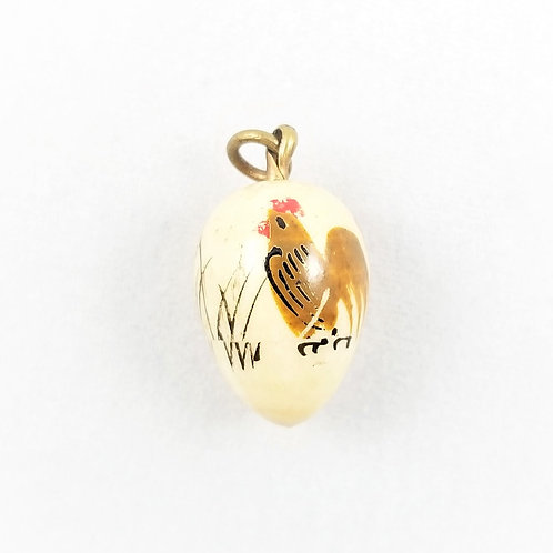 RARE Edwardian Bone Egg Locket Charm