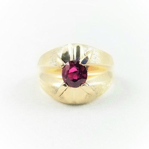 Vintage 14k Hefty Ruby Gent's Ring