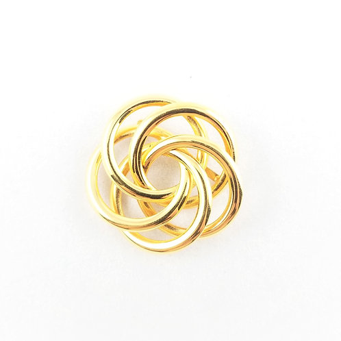 """1950's Gold Tone """"Napier"""" Knot Brooch"""