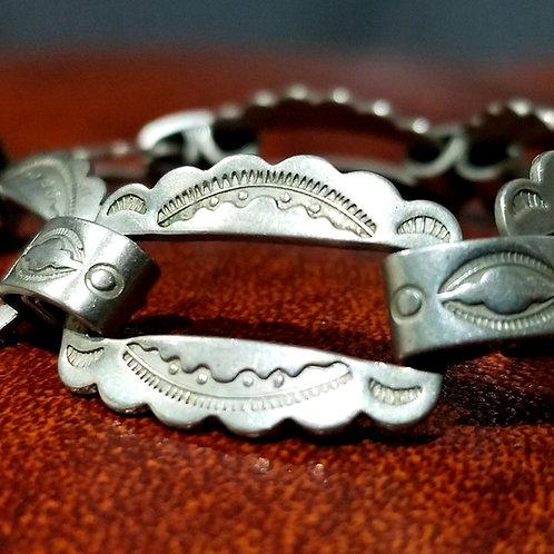 Rare Harvey Railroad Coin Silver Southwest Bracelet