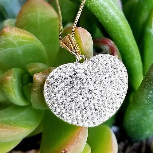 Swarovski Crystal 3-D Heart Necklace