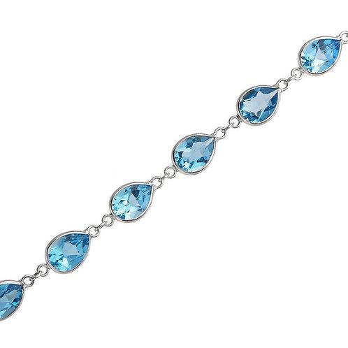 18k London Blue Topaz Link Bracelet