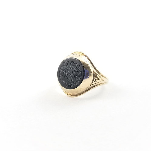 "10k Black Onyx ""1965"" North Carolina Graduation Ring"