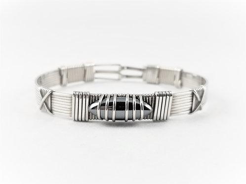 Artisan Sterling Silver Hematite Bracelet