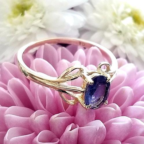 Vintage 14k Amethyst Solitaire Ring