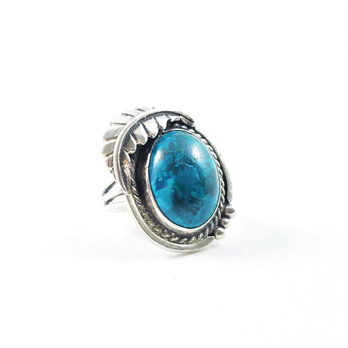 Southwest Sterling Silver Chrysocolla Ring