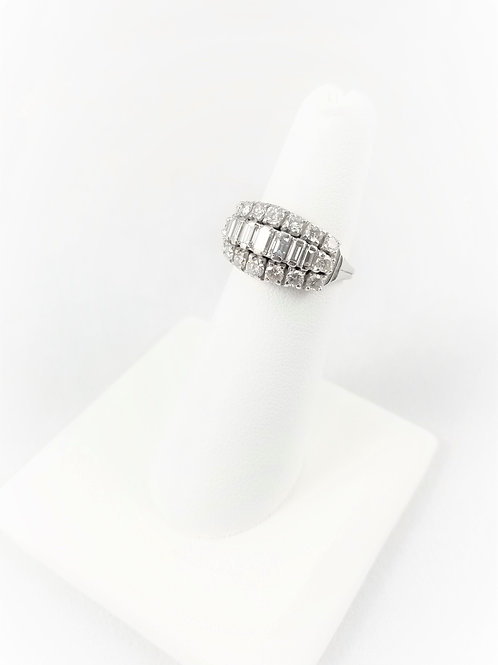 Mid Centrury 14k Diamond Cocktail Ring