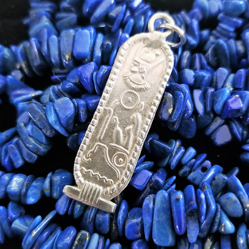 Sterling Silver Egyptian Cartouche