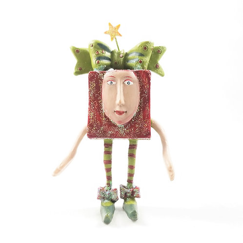 Artisan Christmas Elf in Box Pin