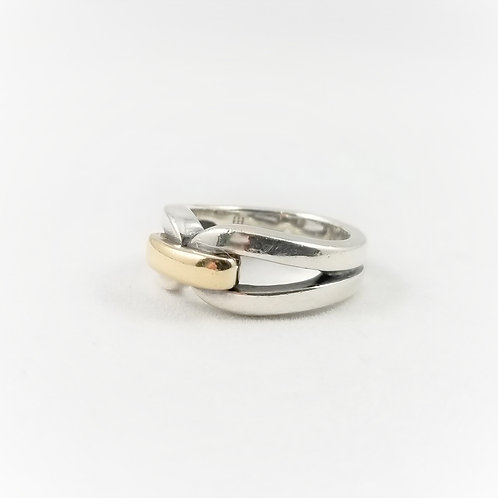Rare Heavy Sterling Silver & 14k James Avery Ring