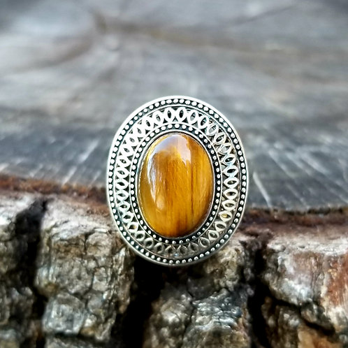 Sterling Silver Tigers Eye Ring