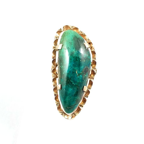 Vintage 10k Hand Crafted Hard Stone Ring