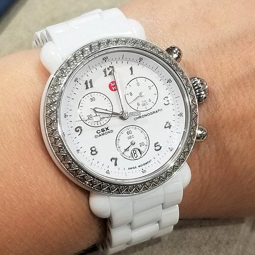 White CSX Diamond Wrist Watch by Michele
