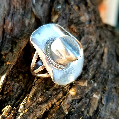 Sterling Silver Cowboy / Cowgirl Hat Ring