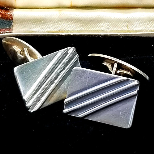 Scandinavian Sterling Silver Cuff Links