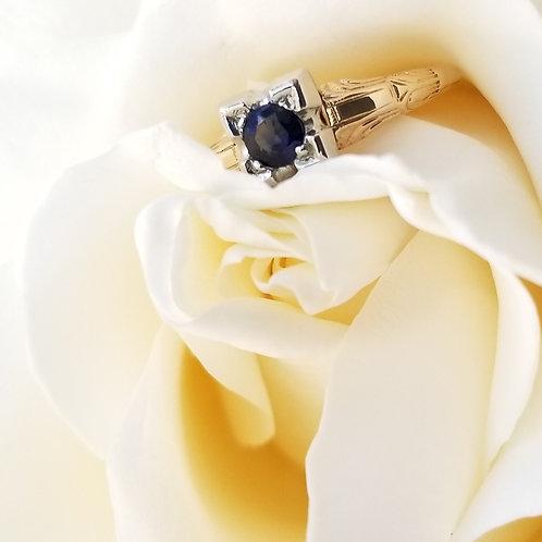 14k Art Deco Sapphire Ring