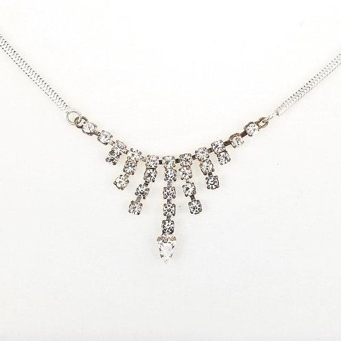 1920 Sterling & Paste Fringe Necklace