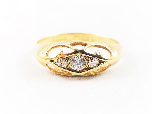 18k Antique Diamond Band by Barnet Henry Joseph c.1908