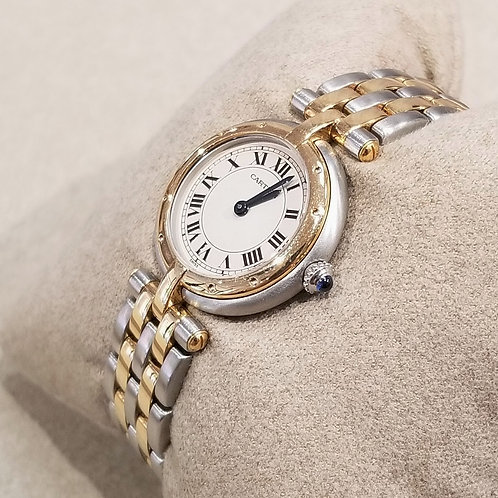 """""""Cartier"""" Panthere Vendome 18k & Stainless Ladies Watch"""