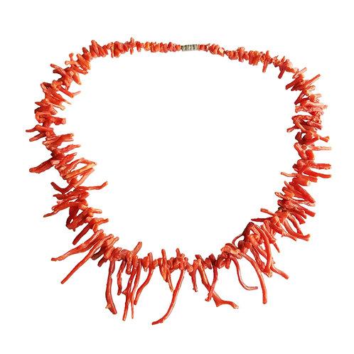 Vintage Natural Branch Coral Necklace