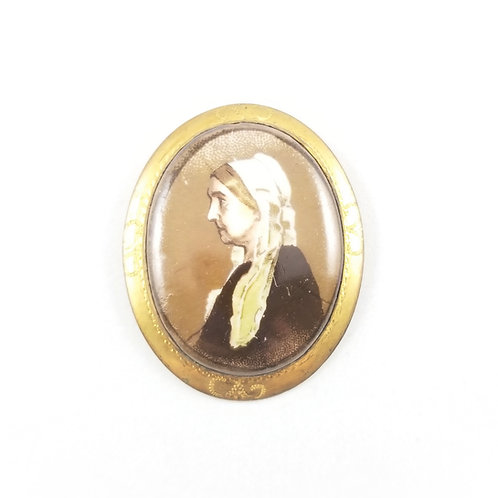 RARE 10k Whistler's Mother Brooch
