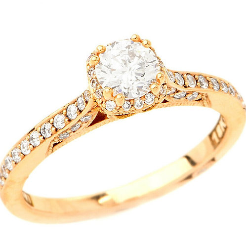 18k Tacori .85ct Diamond Engagement Ring