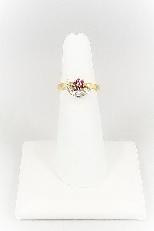 "Appraisal Pending - 14k Ruby & Diamond ""Teufel"" Motion Ring"