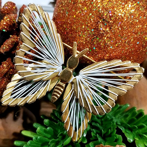Vintage Butterfly Thread Brooch