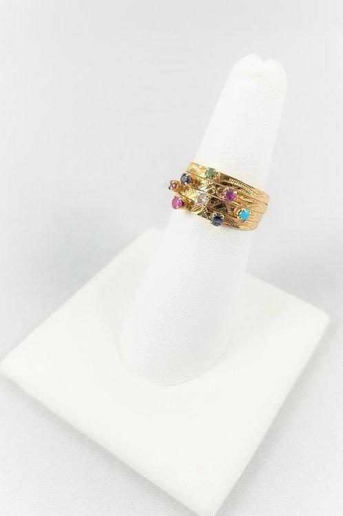 18k Multi Stone Harem Ring - SOLD