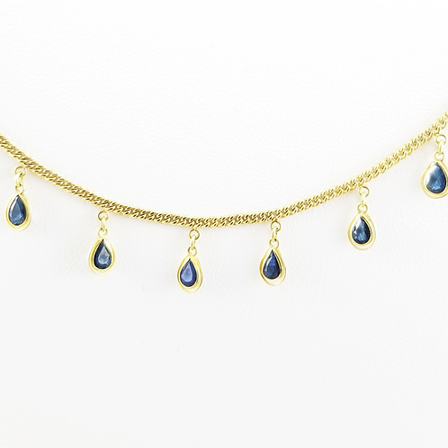 18k Sapphire Fringe Bracelet