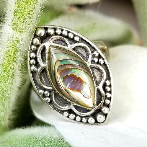 Vintage Abalone Sterling Ring