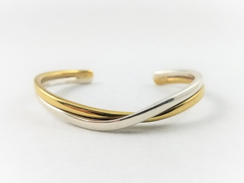 Sterling Silver & Brass Wrist Cuff
