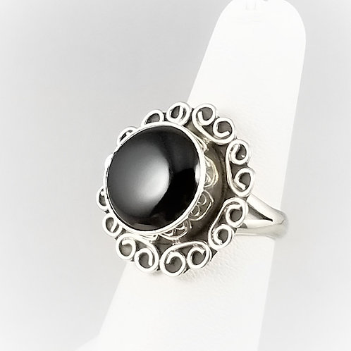 Sterling Silver & Onyx Ring