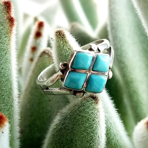 Artisan Crafted Sterling & Turquoise Ring