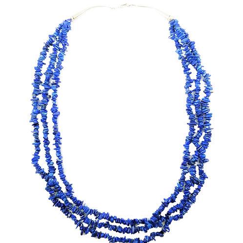 Natural Lapis Bead Necklace