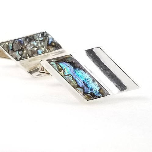 Vintage Abalone & Sterling Cuff Links