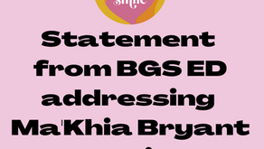 Statement from BGS ED on Passing of Ma'Khia Bryant