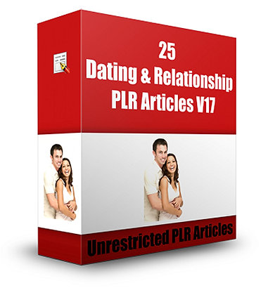 25 Dating and Relationships PLR Articles V17