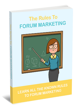The Rules To Forum Marketing